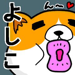 [LINEスタンプ] よしこより愛を込めて(名前スタンプ・猫)