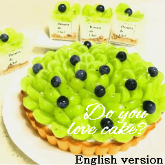 かわいいケーキスタンプ3♪英語版