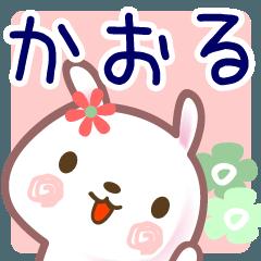 [LINEスタンプ] かおる●名前スタンプ■正月・冬+ (1)