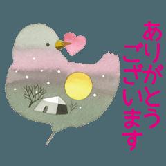 永田萠 冬のスタンプ―Xmas & New Year―