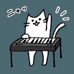 鍵盤奏者のためのキーボードねこスタンプ