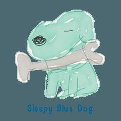 Sleepy Blue Dog