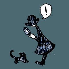 黒い帽子の人と、時々黒猫