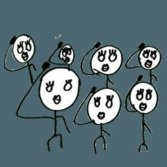 戸松遥のスタンプ2(白目ではありません)