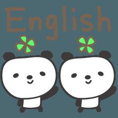 大人可愛い 英語のパンダ panda in English