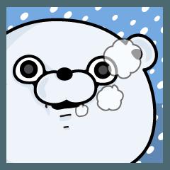 [LINEスタンプ] くま100% 冬 (1)
