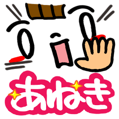 [LINEスタンプ] 【名前】あねき が使えるスタンプ。