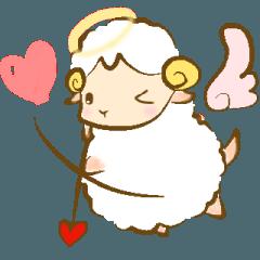 [LINEスタンプ] 夢見る羊のHappy wedding