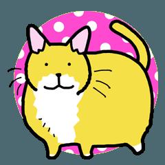 [LINEスタンプ] でぶ猫ふーすけ2 ちょっと敬語