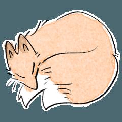 [LINEスタンプ] kitsune friend