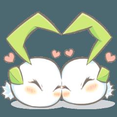 [LINEスタンプ] ユキウサギ―雪丸