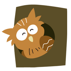 シマフクロウ フクちゃんの北海道弁