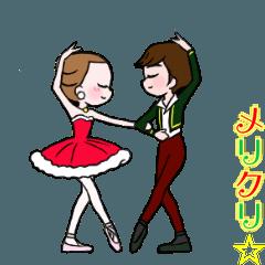 可愛く踊るバレリーナ~クリスマス編~