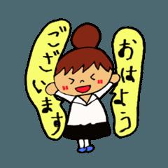 飲食店の女の子(日常生活用)