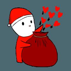 赤ちゃんのクリスマスバージョン