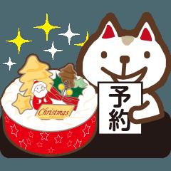 クリスマスケーキ販売とお断りネコ