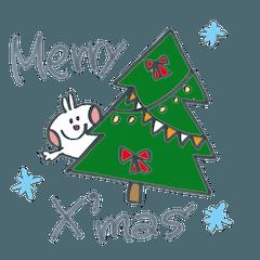 ウサギたちのクリスマス