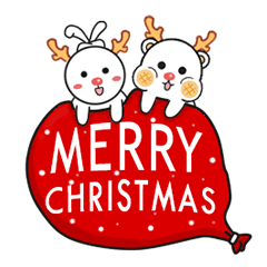 Mochi Bear & Knot ear rabbit (Christmas)