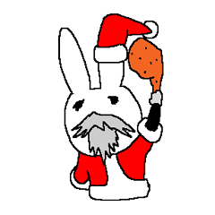 やさぐれたウサギのぼっちのクリスマス