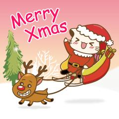 Hani cat-cute kitten sticker5 Merry Xmas