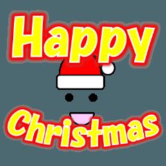 クリスマスメッセージの顔文字風なスタンプ