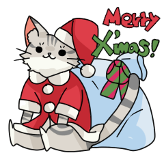 クリスマスしまねこスタンプ