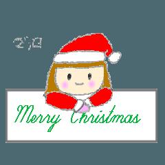 可愛い女の子のクリスマス