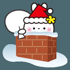 クリスマス☆花うさちゃん