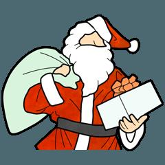 [LINEスタンプ] サンタのおじさん クリスマス スタンプ