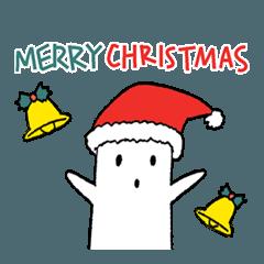 白いハニワ3【冬とクリスマス】