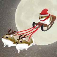 ハムちゃん クリスマススタンプ