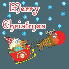 アイス クリーム バード クリスマス