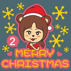 Bear Cute Sister-Merry Christmas