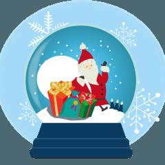 スノードームクリスマス