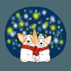 コーギースタンプ (クリスマスとお正月)