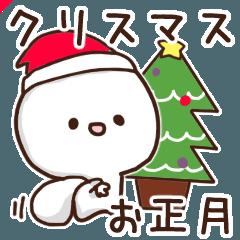 シュールな大福2。年末年始、クリスマスver
