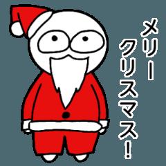 クリスマス!白いたこやき君スタンプ