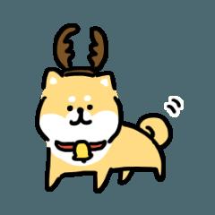 ゆる柴犬スタンプ3・冬