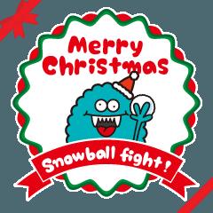 【雪合戦】ギャラモンの遊べるクリスマス