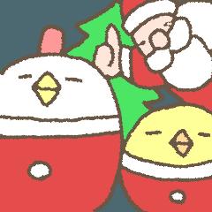 メリークリスマス!ふとっちょ鳥達です。