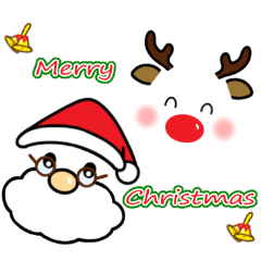 メッセージと顔 ! (クリスマス)