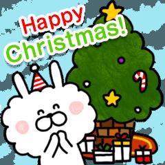 クリスマスのボアうさぎ