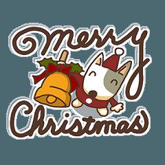 ブルテリアの冬スタンプ(クリスマス~年始)