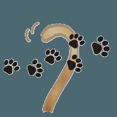 ネコの足跡スタンプ