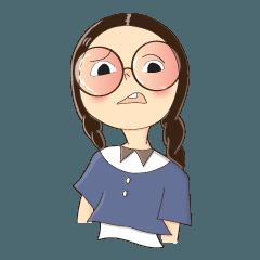 サークルメガネの女の子