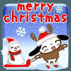 クリスマスをハッピーにするスタンプ