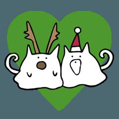 【冬とクリスマス】べちゃ猫