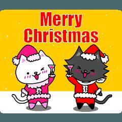 シロ&クロ 動くクリスマス♪