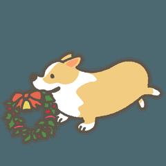 1コーギーのクリスマス
