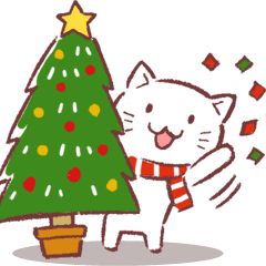 クリスマス色の猫たち